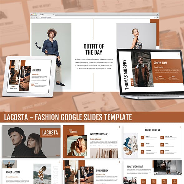 Lacosta - Fashion Google Slides Template