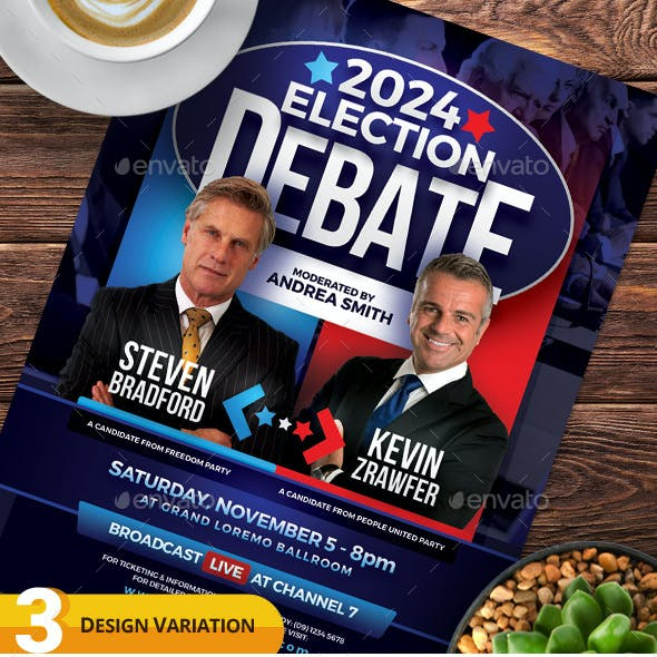 Election Debate Flyer & Poster Templates