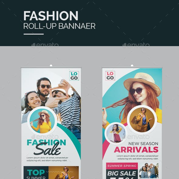 Fashion Roll-Up Banner Template