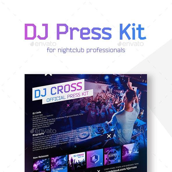 DJ Press Kit / Resume Template