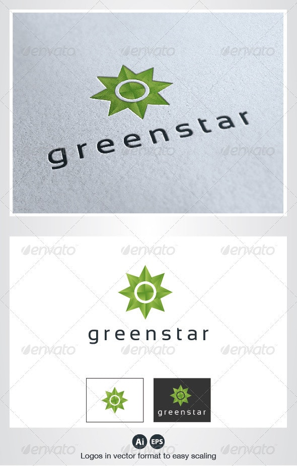 Green Star Logo - Symbols Logo Templates