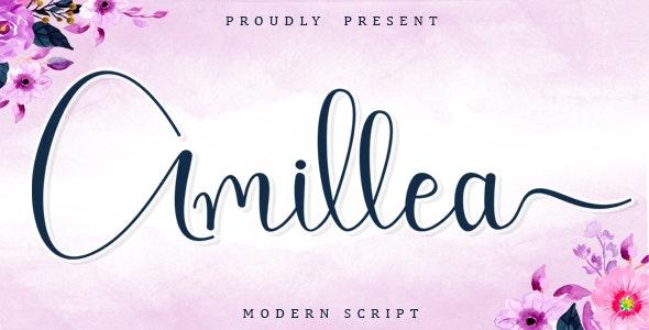 Amillea - Calligraphy Script