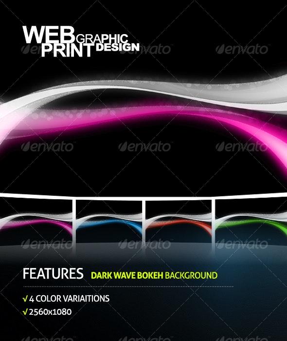 Dark Wave Bokeh Background - Backgrounds Graphics