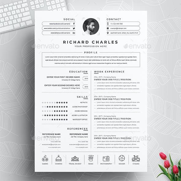 Clean and Modern Word Resume / CV