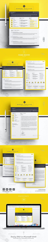 Minimal Yellow CV - Resumes Stationery