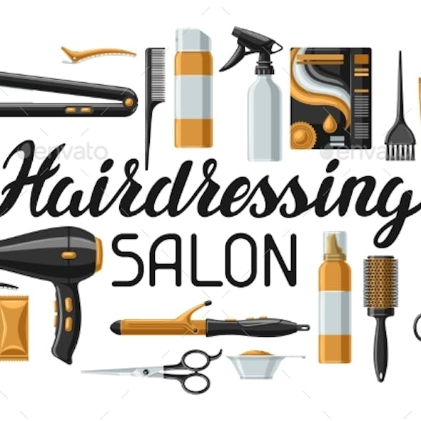 Barbershop Banner with Professional Hairdressing