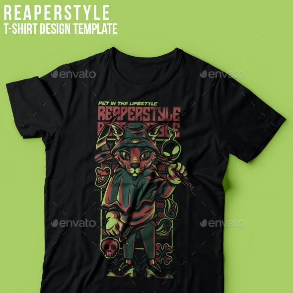 Reaper Style T-Shirt Design