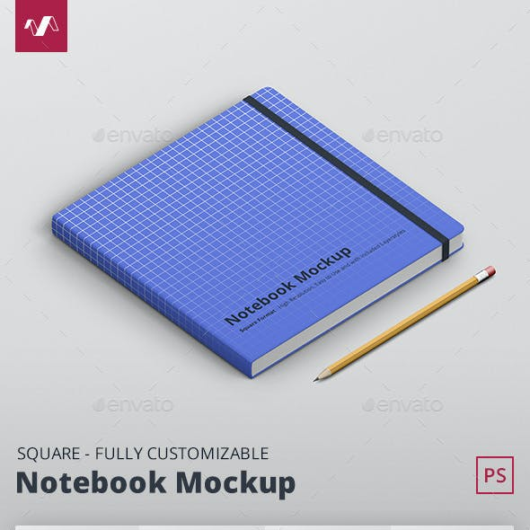 Notebook Mockup Square Format