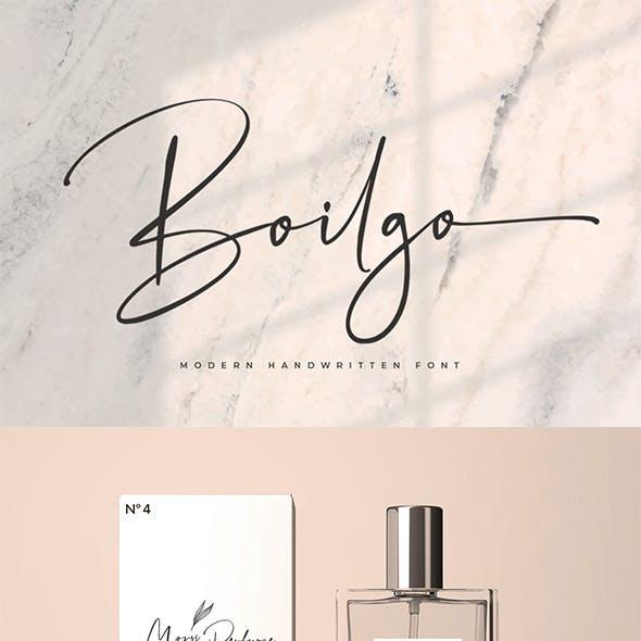 Boilgo - Modern Signature Font