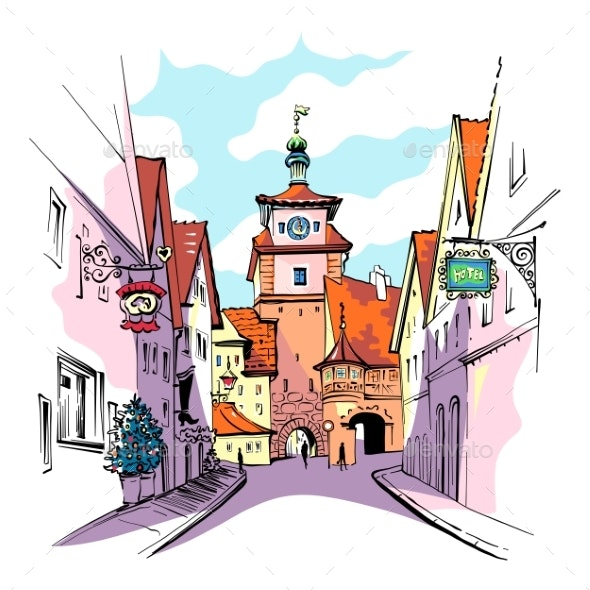 Rothenburg Ob Der Tauber, Germany - Buildings Objects