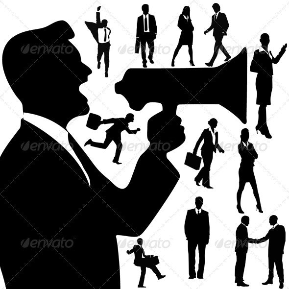 Silhouettes Of Business People - Characters Vectors