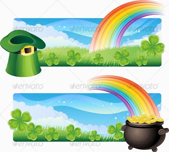 St. Patrick's banners - Backgrounds Decorative