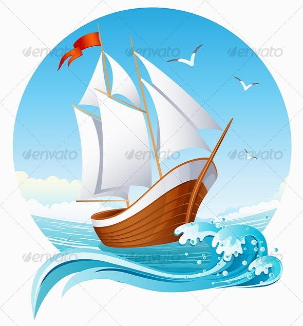 sailing ship - Travel Conceptual