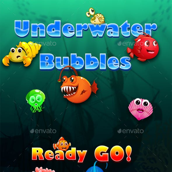 Bubble Shooter Unity Asset Reskin: Underwater