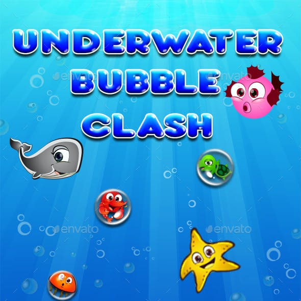 Bubble Shooter Unity Asset Reskin:  Underwater Class