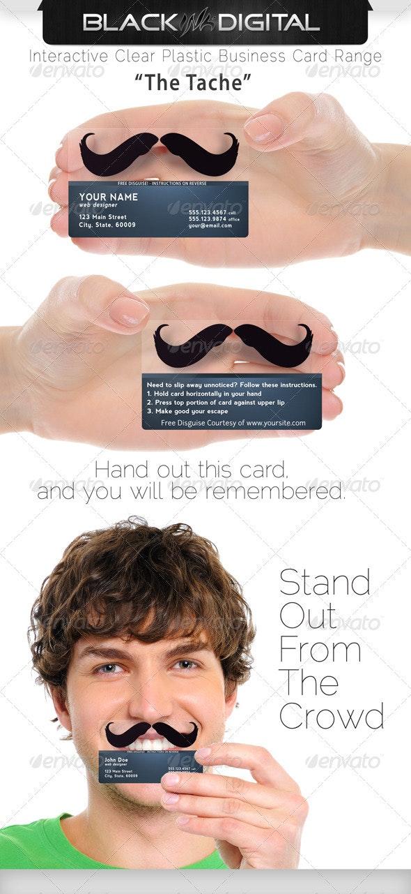 BID Plastic Business Card Series - The Tache - Creative Business Cards