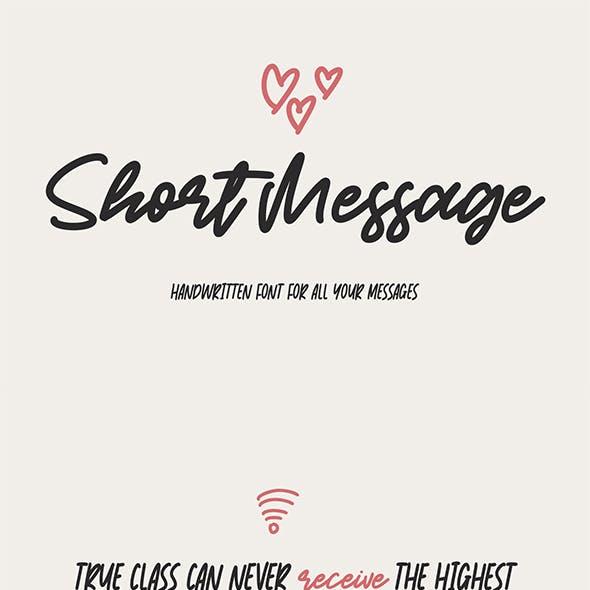 Short Message   Handwritten Font
