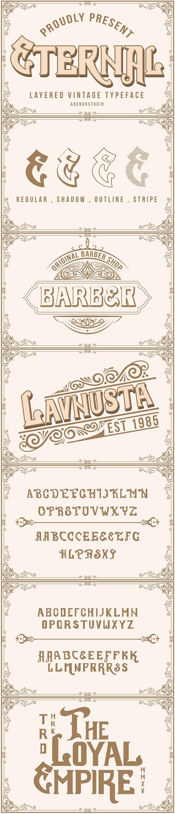 Eternal Layer Vintagge Typeface - Fancy Fonts