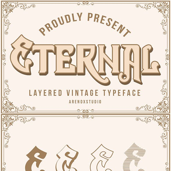 Eternal Layer Vintagge Typeface