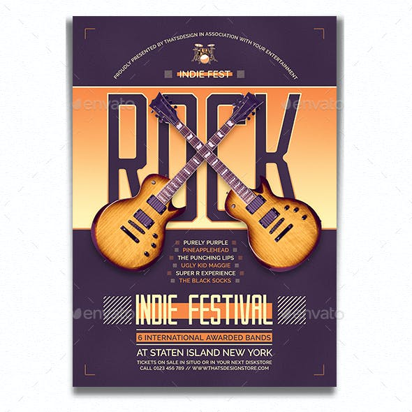 Indie Fest Flyer Template V8