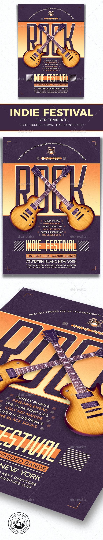 Indie Fest Flyer Template V8 - Concerts Events