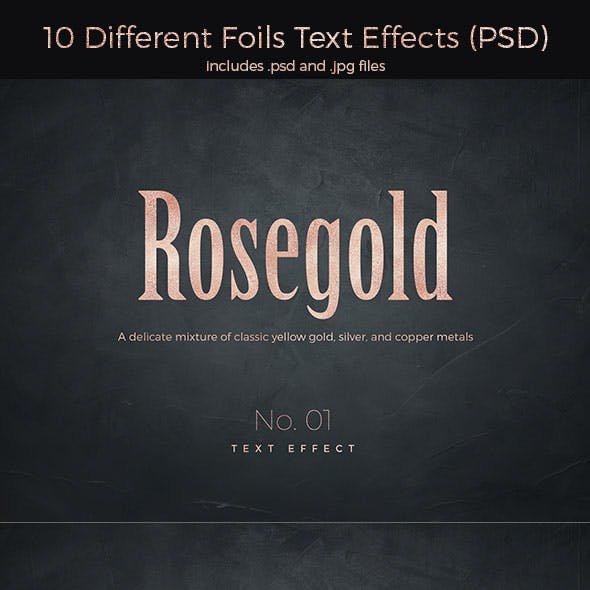 10 Different Foils Text Effects