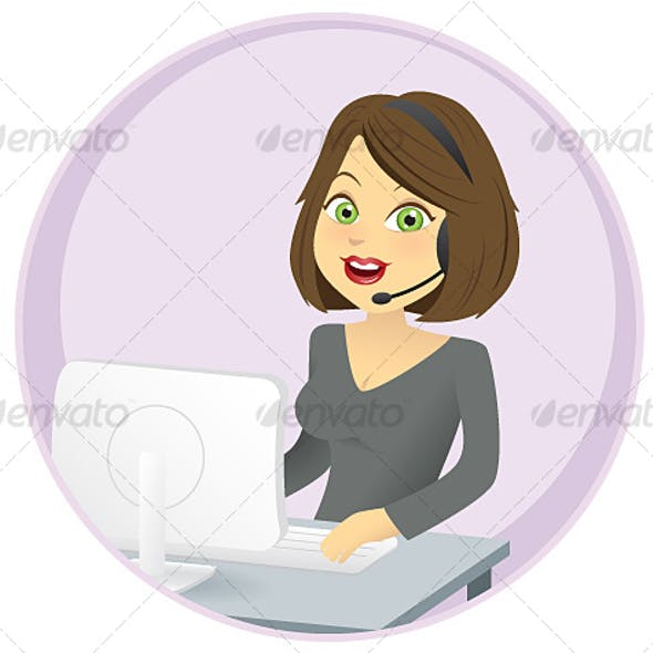 Illustration of a Woman in her Office