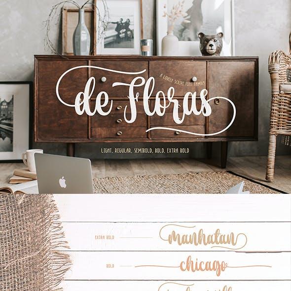 de Floras - 5 Fonts Family