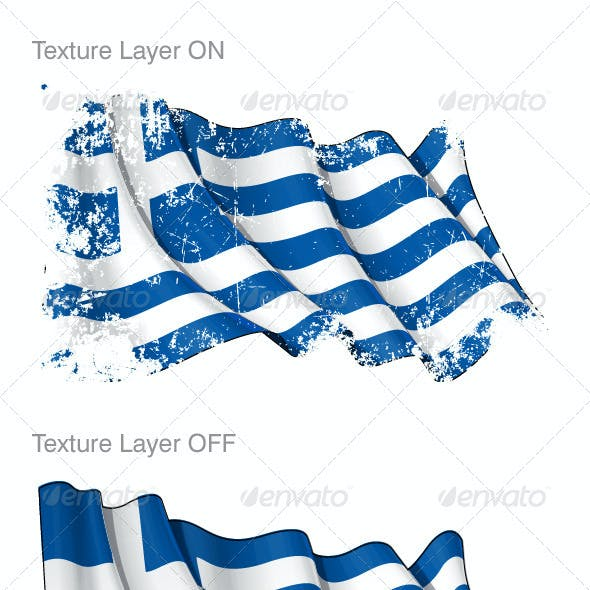 Grunge Greek Flag