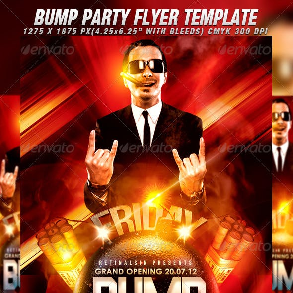 Bump Party Flyer Template