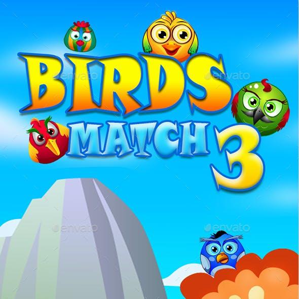 Match 3 Unity Asset Reskin: Birds