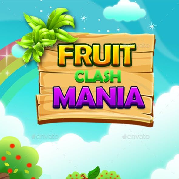 Match 3 Unity Asset Reskin: Fruits
