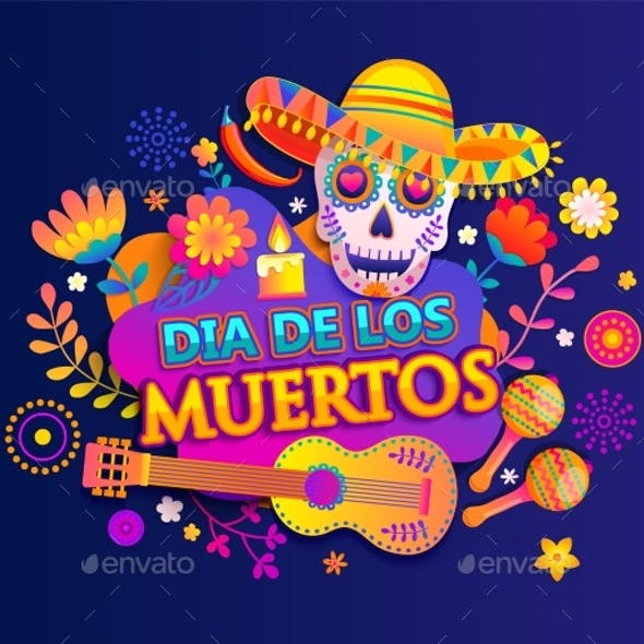 Bright Banner for Day of the Dead