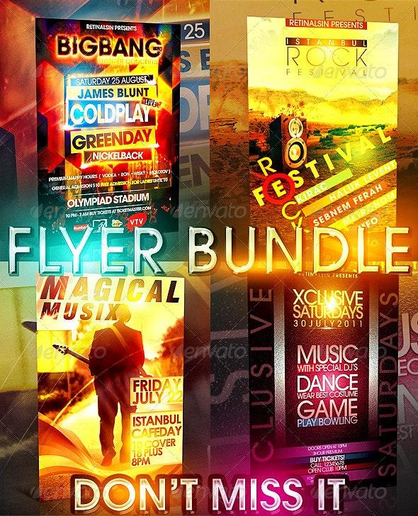 Big Bang Flyer Bundle 4 in 1 - Clubs & Parties Events