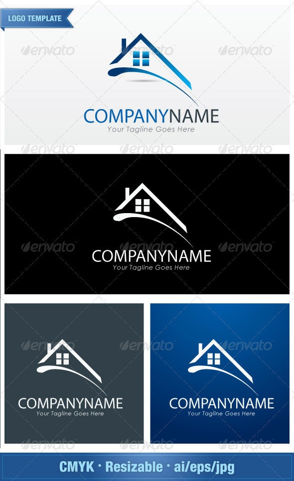 MyHome Properties - Buildings Logo Templates