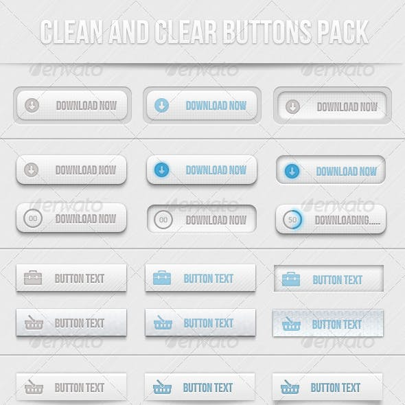 Clean And Clear Buttons Pack