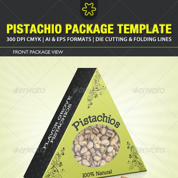 Pistachio Packaging Template