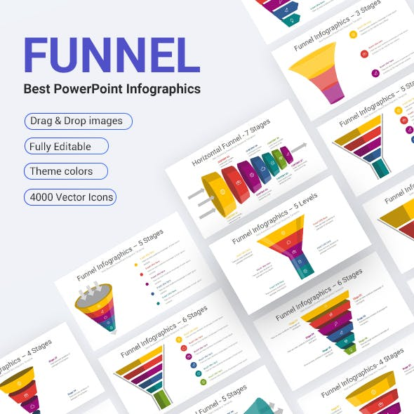 Funnel PowerPoint Infographics Diagrams Template