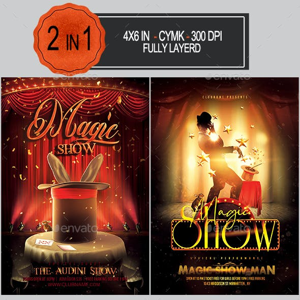 Magic Show Flyer Bundle