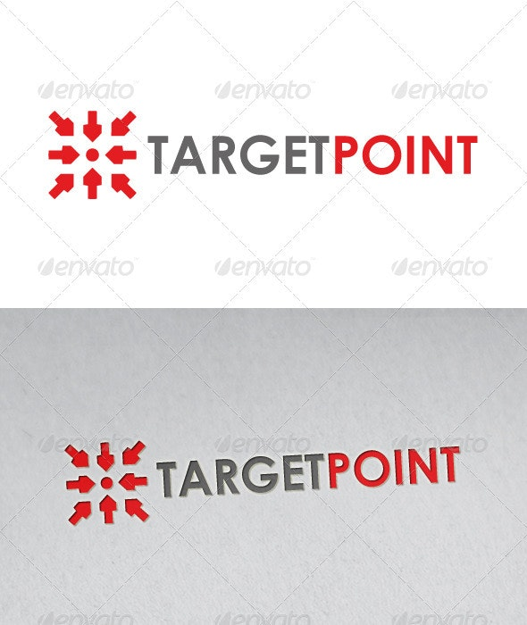 Target Point Logo - Vector Abstract