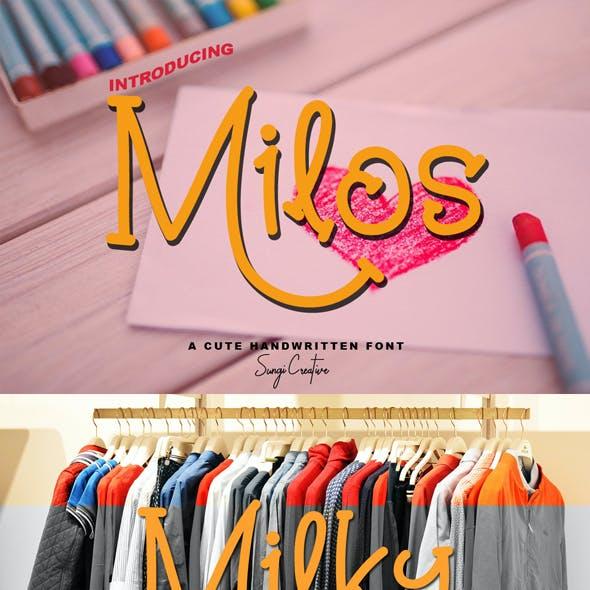 Milos   Script Font
