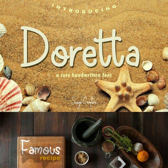 Doretta   Handwritten Font