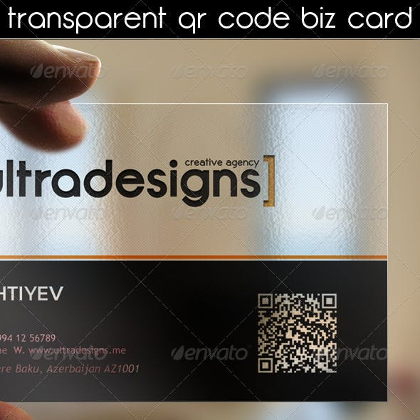 Transparent QR Code Business Card