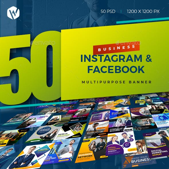 50 Instagram & Facebook Business Banners