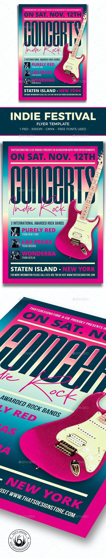 Indie Fest Flyer Template V9 - Concerts Events