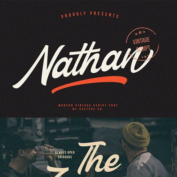 Nathan - Vintage Script Font