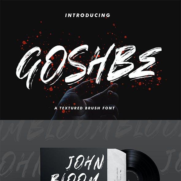 Goshbee - Brush Font