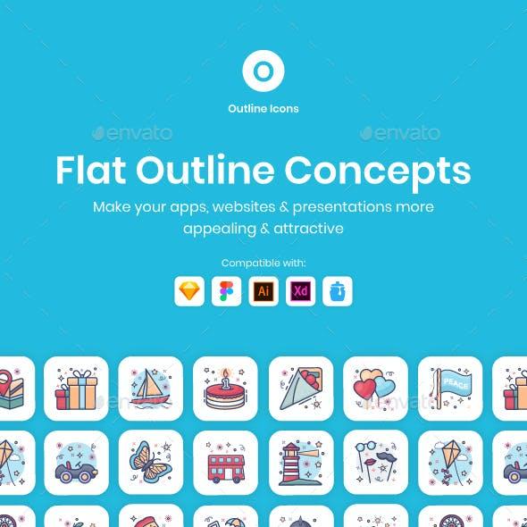 Flat Outline Concepts