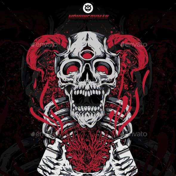 Three Eyes Devil Skeleton