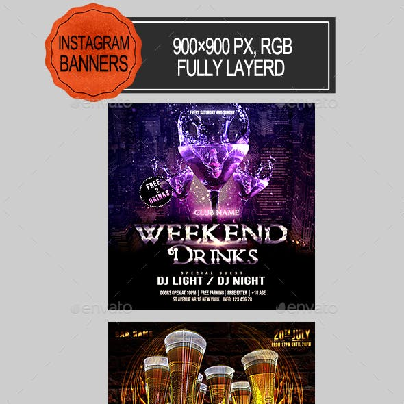 Party Night Instagram Banners